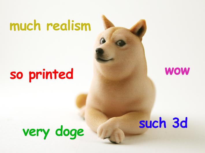 3d printed doge (such wow)
